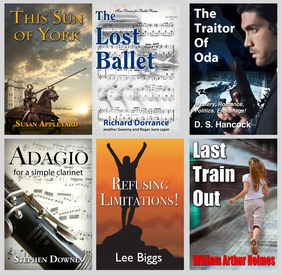 six ebook covers