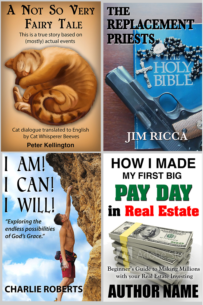 Four ebook covers