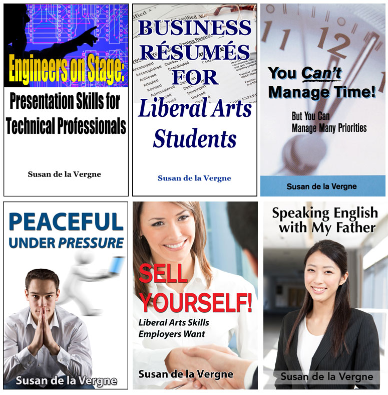 Susan de la Vergne ebook covers by Caligraphics